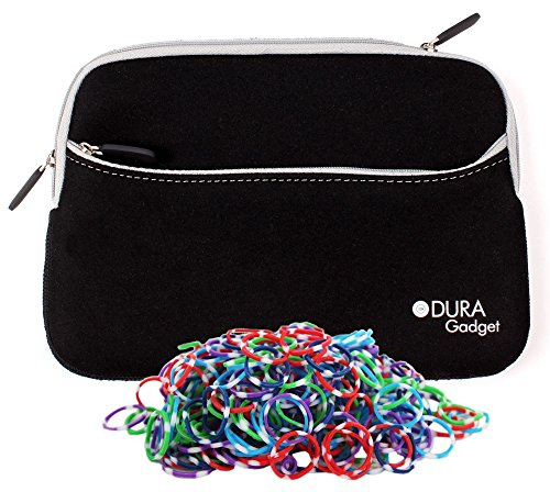 Duragadget Black Lightweight Neoprene Protective Carry Case For Loom Bands front-934666