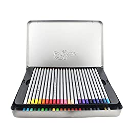 Huhuhero Macro 48 Color Pencils Set with Metal Tin, Professional Soft Core Art Colored Pencils/ Drawing Pencil for Artist Sketch /Adult Coloring Book, Set of 48 Assorted Colors