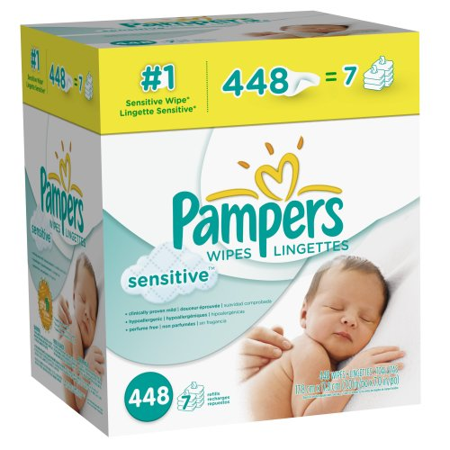 Pampers Sensitive Wipes 7x Box, 448 Count