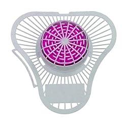 ScentBon Urinal Screen Deodorizer Cherry Fragrance, Non Para Odor Block, Pack of 12 (12, Pink - Cherry Scent)