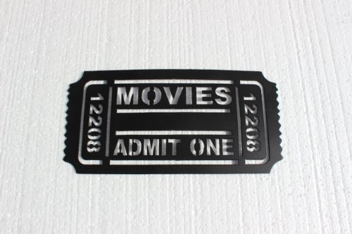 Movie Ticket 12208 Home Theater Decor Metal Wall Art (Wall Ticket compare prices)