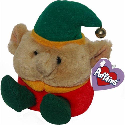 Elvin the Christmas Elf - Puffkins Bean Bag Plush