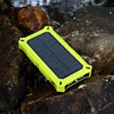 ZeroLemon SolarJuice Solar Charger 8000mAh External Battery Portable Dual USB Charger PowerBank. Broad Compatibility, Fast Charging, High Capacity, Ultra Compact. For iPhone 6 Plus 5S 5C 5 4S, iPad Air 2 mini 3, Galaxy S5 S4 S3, Note 3 4, Tab 4 3 2 Pro, Nexus, HTC One, One 2 (M8), LG G3, Nexus, MOTO X and More - Rain-resistant and Dirt/Shockproof
