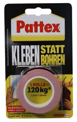 Pattex PXMT2 - Nastro adesivo da montaggio extraforte No al trapano, 1,5 m