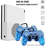 Biospirit Entertainment System , Retro Game Console 600 Classic Games with 2Pcs Joystick , Support CP1, CP2, NEOGEO, Arcade, GBA, MD,SFC (Color: White)