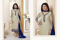 Krishna Biege Color Cotton Semi Stitch Dress Material With Dupatta.. Original designer dres...