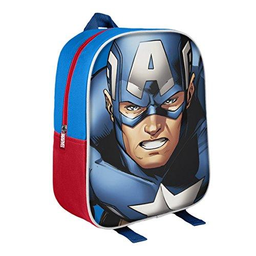 Marvel 210000159831cm CAPITAN AMERICA 3d character Junior Zaino