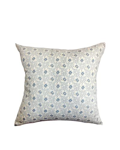 The Pillow Collection Deion Floral Pillow, Blue As You See