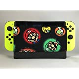 GameSide - Nintendo Switch Dock Sleeve , Screen Protector, Antiscratch Cover Sleeve for Nintendo Switch , Dock Socks , Soft Microsuede , Made in USA (Mario (Black))