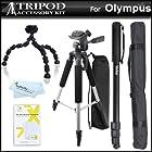 Triple Tripod Kit For Olympus SH-50iHS, TG-2 iHS, TG-1 iHS, TG-850 iHS, SP-100, OM-D E-M5, OM-D E-M10, OM-D E-M1, XZ-2, SH-1, TG-3, TG-850 iHS, SZ-12, SZ-15, TG-60 iHS, TG-830 iHS, VG-160, VR-370, Stylus 1, E-PM2, E-PL5, SP-820UZ iHS, XZ-10 iHS Camera ++