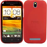 Gel Case Cover Shell And Screen Protector For HTC One SV / Red