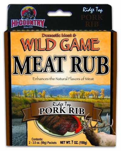 Hi-Country Snack Foods Domestic Meat and WILD GAME 7 oz. Pork Rib Meat Rub Spice Mix  (2/3.5 oz. packs)