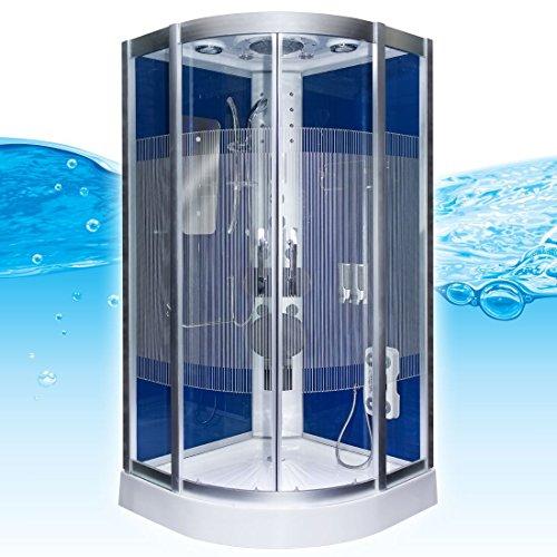 Dampfdusche Dusche Duschtempel Fertigdusche 80x80 90x90 100x100 AcquaVapore DTP8046 DBL-SS-DF-TH, EasyClean Versiegelung der Scheiben:2K Scheiben Versiegelung +89.-EUR;Abmessungen:L / 80x80x215cm +0.-EUR