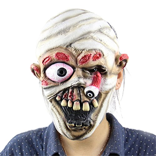 [Halloween Horror Masks Adult Costume Mummy Latex Party Scary Mask Christmas Cosplay Prop Fancy Dress] (Witch Doctor Costume Diy)