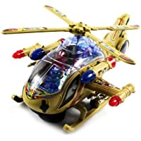 Superior Armored Battleship Battery Operated Kids Bump And Go Toy Helicopter W/ Awesome Flashing Lights, Sounds...