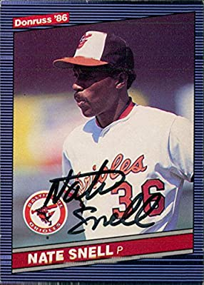 Signed Snell, Nate (Baltimore Orioles) 1986 Donruss Baseball Card autographed