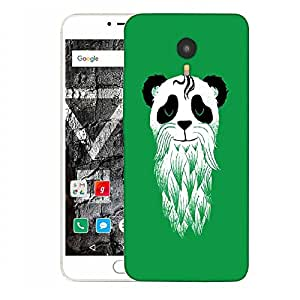 Snoogg Panda With Beard Designer Protective Back Case Cover For YU YUNICORN
