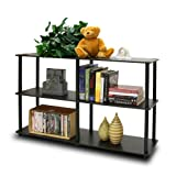 99130EX/BK Turn-N-Tube 3-Tier Double Size Storage Display Rack, Espresso/Black