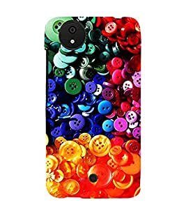 Colourful Buttons 3D Hard Polycarbonate Designer Back Case Cover for Micromax Canvas Android A1 AQ4501 :: Micromax Canvas Android A1