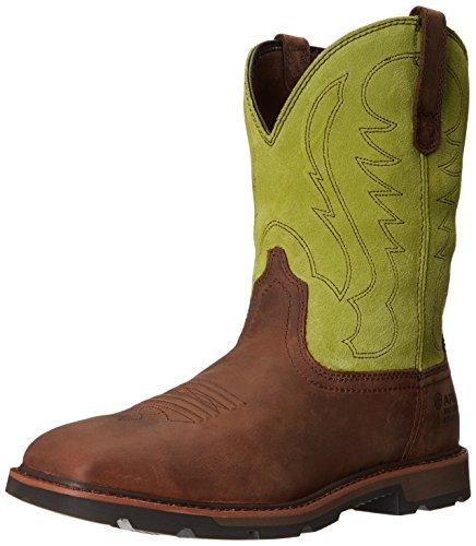 Ariat Work Boots Men Groundbreaker H2O Steel Toe Brown 10015