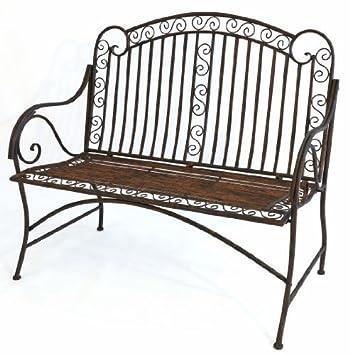 mediterrane sitzbank pablo gartenbank metall bank garten rostoptik b117cm de31. Black Bedroom Furniture Sets. Home Design Ideas