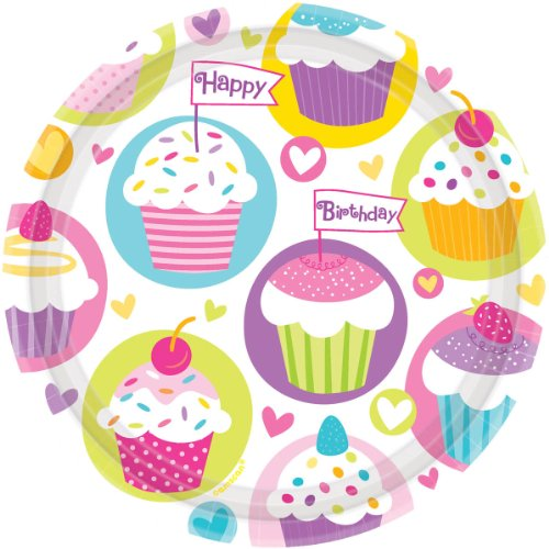 Cupcake Party Dinner Plates