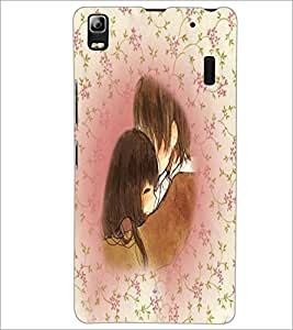 PrintDhaba Couple D-4202 Back Case Cover for LENOVO A7000 (Multi-Coloured)