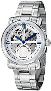 Stuhrling Original Men's 386.33113 Classic Delphi Argent Automatic Skeleton Stainless Steel Bracelet Watch