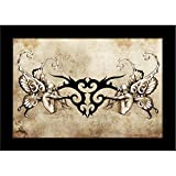 ArtzFolio Tattoo Art Tribal With Two Nymphs - Small Size 12.0 Inch X 8.0 Inch - PREMIUM CANVAS Wall Paintings With BLACK FRAME : DIGITAL PRINT Wall Posters Art Panel Like Hand Paintings : Home Interior Wall Décor Photo Gifts & Decorative Painti