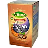 100% Organic Raw Cacao Bliss, Raw Chocolate Coconut Butter, 10 Packets,10.6oz