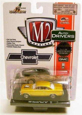 1967 '67 CHEVY CHEVROLET NOVA SS GOLD R29 14-17 M2 MACHINES DRIVERS DIECAST - 1