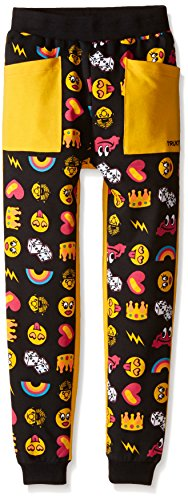 Trukfit Big Girls' All Over Print Emoji Jogger, Black, Medium