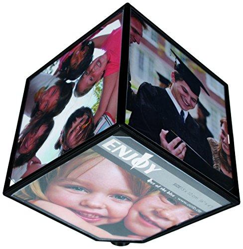 Portafoto - Portafotografia giratorio a forma di cubo - 6 fotografie - IDEA REGALO