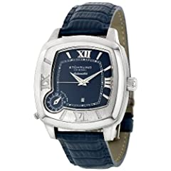 Stuhrling Original Men's 177.3315C6 Lifestyle 'Piattino Quadrato' Dual-Time Zone Watch