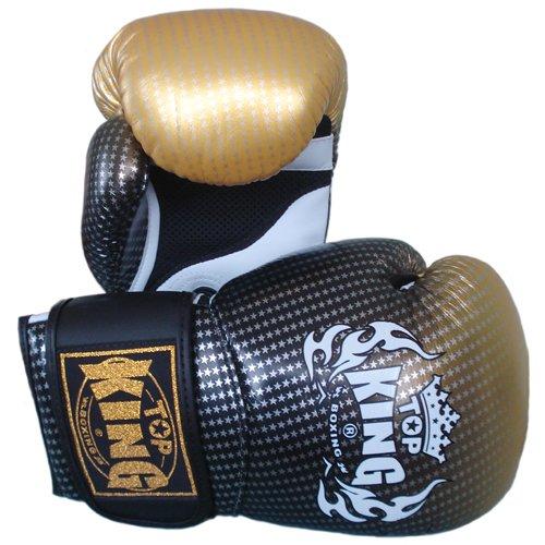 "Top King Muay Thai Boxing Gloves Super Star Tkbgss-01-Gd ""Air"" Gold 10-12-14-16 Oz. (14 Oz.) front-616916"