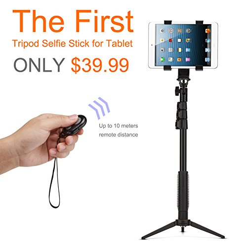 accmor bluetooth extendable selfie stick with tripod stand for smartphones tablets and video. Black Bedroom Furniture Sets. Home Design Ideas