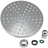 TOOGOO(R) 8 Pouce Salle de bain Chambre Chrome grand rond Fix Mixer pommeau de douche 200 mm