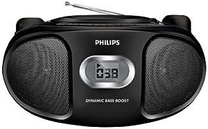 Philips AZ102B/05 Portable CD Player with AM/FM Radio - Black