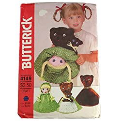 Butterick Sewing Pattern 4149 Goldilocks Reversible Doll 12 Inches