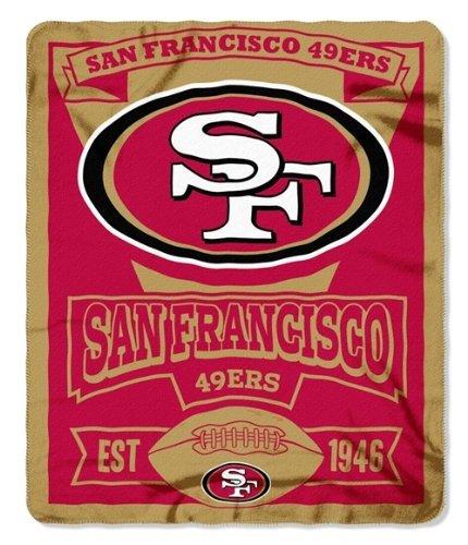 Nfl Team Marquee Design Fleece Throw Blanket (50X60) (San Francisco 49Ers) front-961671