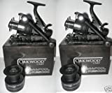 Double Handle Deluxe Oakwood Bait Runner Reel x 2