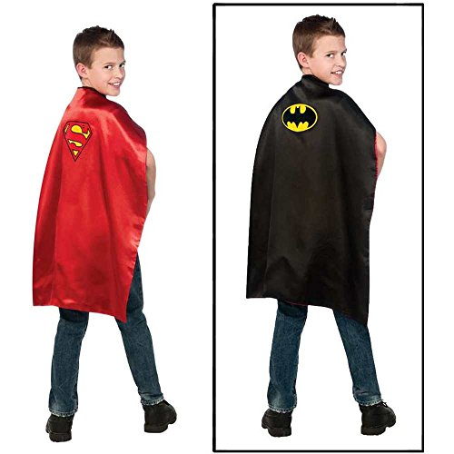 Batman and Superman Reversible Kids Cape - One Size