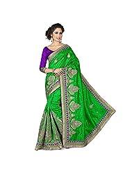EthnicCrush Light Green KANCHI SILK Saree
