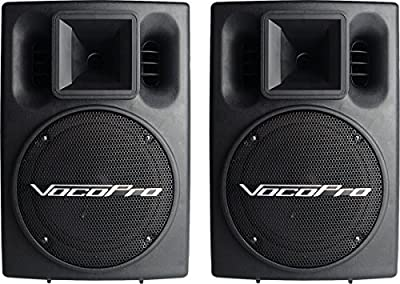 VocoPro PV-802 (PAIR) Professional Stereo 400W Powered Vocal Speakers