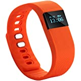 Tera TW64 Bluetooth Health Smart OLED Bracelet Wristband Watch Pedometer Cell Phone Mate Black With Sleep Monitoring... - B014KPBOB4
