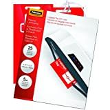 Fellowes Laminating Pouches, Thermal, Luggage Tag with Loop, 5 Mil, 25 Pack (52003)