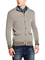 Hackett London Chaqueta Punto Lana Jaqu'D Fl Button (Gris)