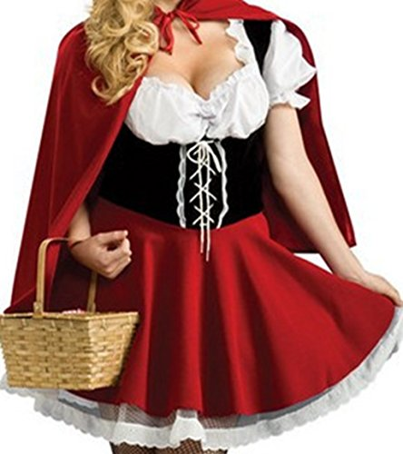Sharelove Racy Red Riding Hood Costume (X-Large) (Racy Red Riding Hood Costume)