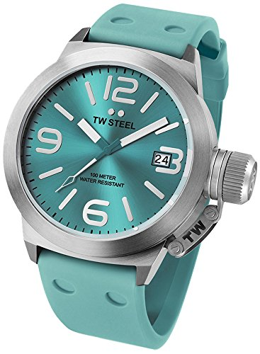 TW Steel Women's Quartz Watch Canteen Fashion Edition TW525 with Rubber Strap