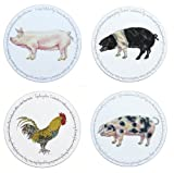 Jersey Pottery Farmyard Placemats - Set 2